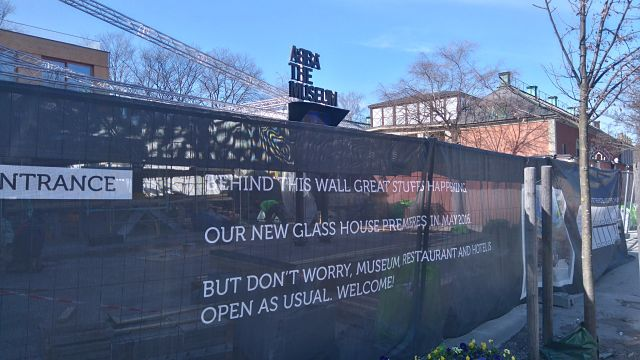 This work outside the ABBA Museum will be finished just in time for Eurovision they say (Photo: Ben Robertson)