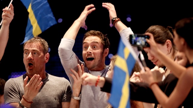Mans Zelmerlow wins Eurovision, with a dash of Christer Bjorkman