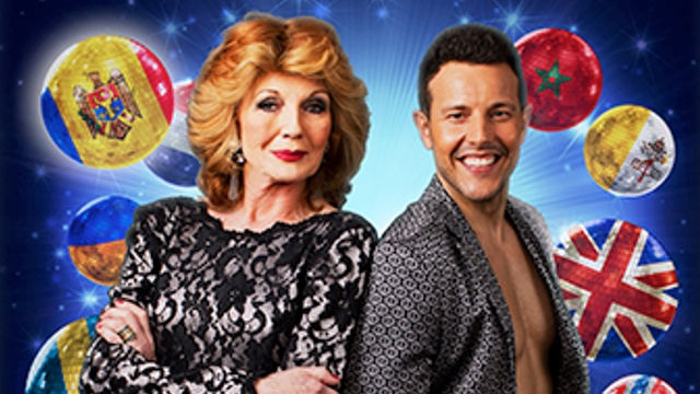 Rula Lenska and Lee Latchford Evans in Eurobeat Moldova.