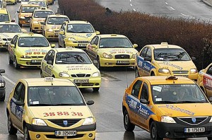 Big yellow taxis - always negotiate the cost before travel.