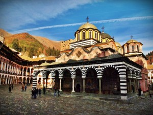 The colourful and scenic Rila Monastery