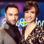 Mans Zelmerlow and Petra Mede, ESC 2016 Hosts (image: SVT/Facebook)