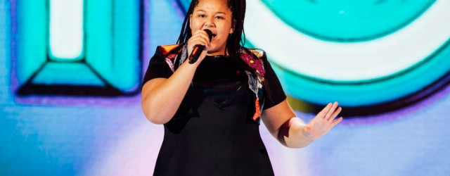 Destiny on stage (image: JuniorEurovision.tv)