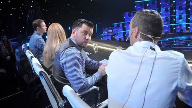 The Supernova jury this year included Intars Busilis, who represented Latvia in Eurovision 2009 (Photo: LTV)