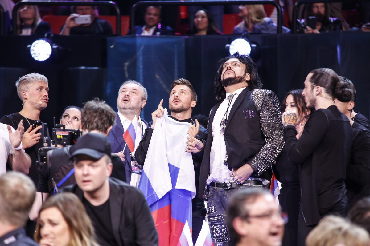 Sergey Lazarev waits for the televote result s.