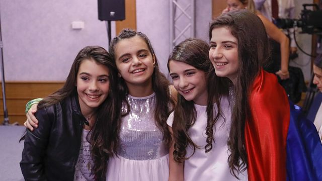 The top three from Italy, Armenia and Georgia (Photo: Andres Putting, EBU)