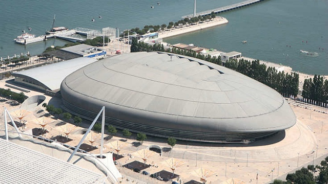 MEO Arena from the sky.