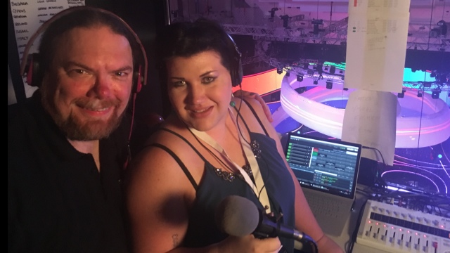 JESC Commentary, Ewan Spence and Lisa-Jayne Lewis (image: ESC Insight)
