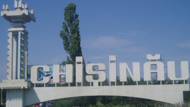 Chisinau greeting monument (Photographer: Gustav Flatabø)