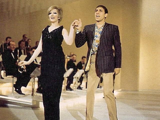 Anita Traversi and Adriano Celentano (cc/Wikipedia.it)