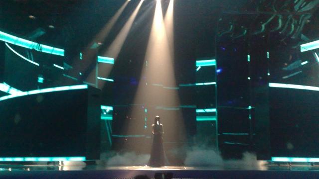 Estonia takes to the stage at Eurovision 2009 (image: Ewan Spence)