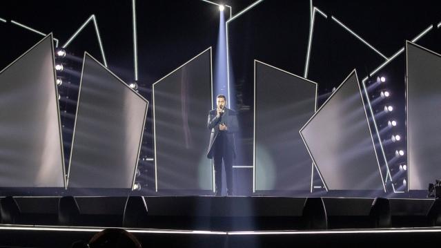 Kobi Marimi rehearses for Eurovision 2019 (eurovision.tv/Andreas Putting)