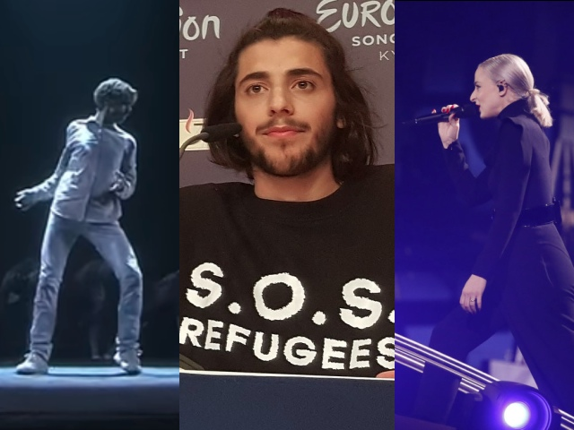 Refugees Composite - The Grey People, Salvador Sobral, Madame Monsieur (images: EBU/Eurovision.tv)
