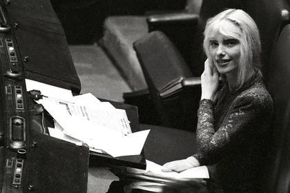 Ilona Staller in the Italian Parliament.